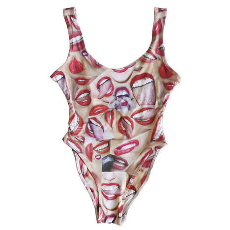 Tongue-Wagging Swimsuits