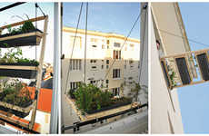 Pulley-Operated Apartment Planters