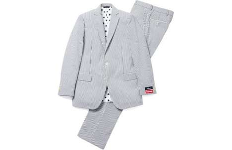 Supremely Stylish Seersucker Suits - This Suit Was Designed by Brooks Brothers x Skate Shop Supreme