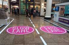 Dawdler-Distancing Mall Lanes - Meadowhall Mall Now Has Slow and Fast Lanes for Slow Walkers