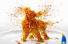Messy Spaghetti Dog Ads - The Fight Ultimate Stain Remover Campaign Provides Tough Action