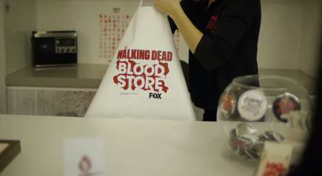Blood Currency Shops - The Blood Store Trades Blood Donations for Walking Dead TV Show Merchandise