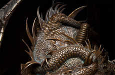 Cinematic Dragon Sculptures