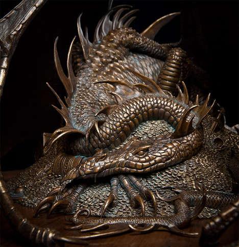 Cinematic Dragon Sculptures