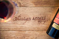 Juxtaposed Culture Wine Branding - The Foreign Affair Winery Design Merges Two Cultures