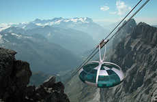 Panoramic Rounded Gondolas - The Air-Leben Provides a Revolutionary 360-Degree View for Riders