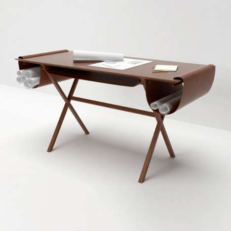 Leather-Pocketed Workstations