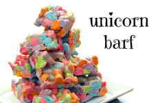 Regurgitated Mystical Treats - These Edible Unicorn Squares are Made with Lucky Charms