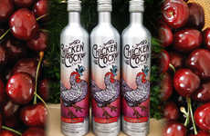 Cherry-Flavored Whiskies - This Chicken Cock Cherry Bounce Whiskey is Infused with Sweet Cherry Cola