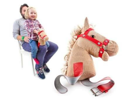 Compromised Rocking Horses - The Knee Horsey is Made for Those Who Can't Accommodate the Real Deal