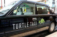 Slow-Driving Taxi Services - Kotsu's Turtle Taxis in Japan Have an Option to Go as Slow as a Turtle