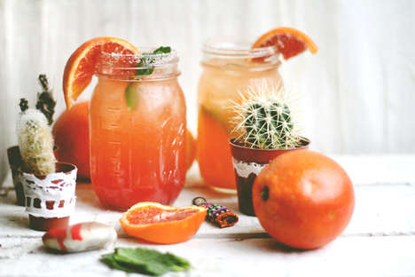 Festive Blood Orange Beverages