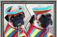 Festive Puppy Ponchos - These Mariachi Band Cinco De Mayo Costumes are Made for Dogs