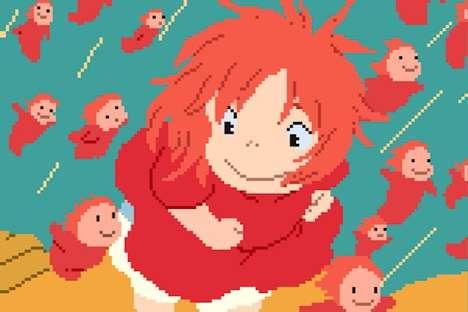 Pixelated Anime Characters