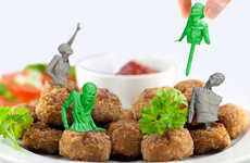 Zombified Reusable Toothpicks - Zombie Food Party Picks Make a Zombie Apocalypse Look Appetizing