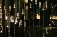 Kinetic Lighting Installations - A Hotel Chandelier is Designed to React to Environmental Data