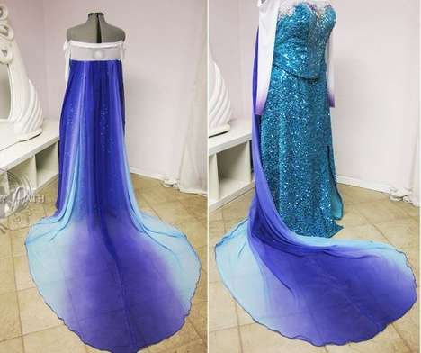 Disney Prom Dresses - This Frozen Prom Dress Mimics the Ice Queen Elsa