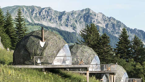 Tent-Like Pod Hotels - The Whitepod Eco-Luxury Hotel is Located in the Swiss Alps