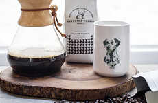 Canine-Saving Coffee Roasts - Grounds & Hounds Coffee Co. Will Save a Hound for Every Pound