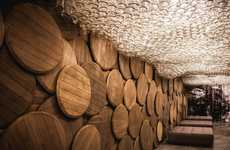 Barrel-Covered Bars - The Shustov Brandy Bar in Ukraine was Done by the Denis Belenko Design Band