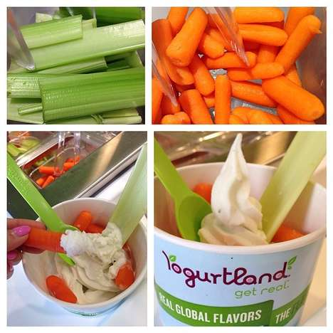 Salad Dressing Desserts - Yogurtland Created an Outlandish Ranch Dressing Frozen Yogurt
