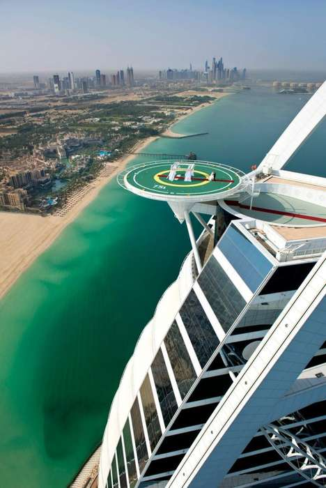 High Flying Wedding Venues - The Burj Al Arab's Wedding in the Skies is on Its Helicopter Pad