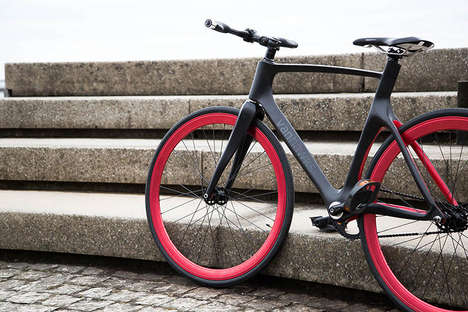Connected Carbon Fiber Bicycles - The Lightweight Bluetooth Bike Protects Riders from Unseen Dangers