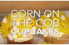 Sweet Pole-Inspired Desserts - Corn on the Cob Cupcakes are Covered in Jellybeans