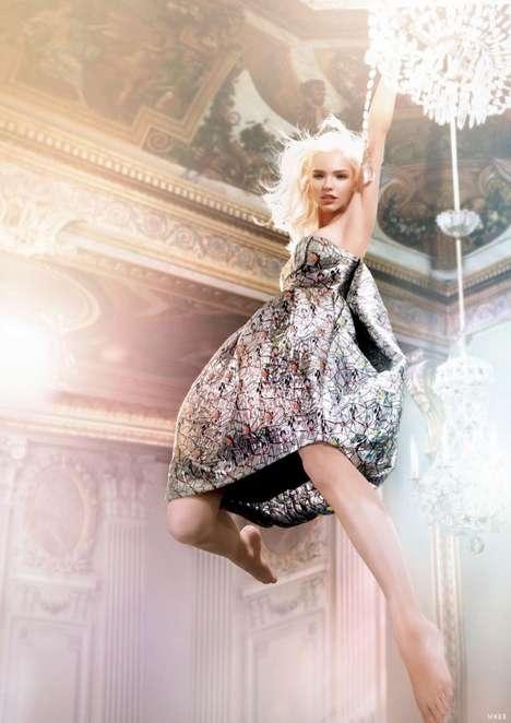 Chandelier-Swinging Fashion Ads
