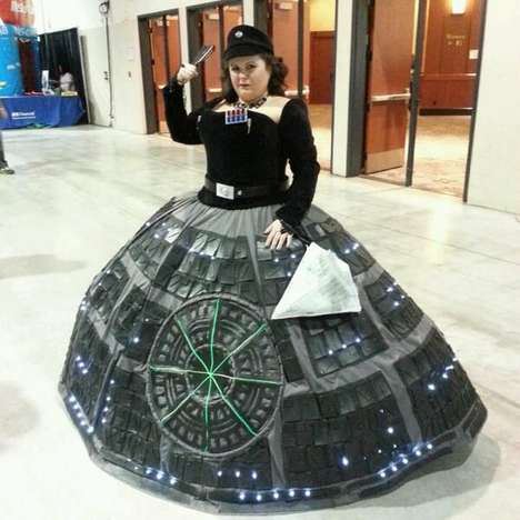 Rotund Sci-Fi Dresses - The Death Star Gown is Made for Ultimate Female 'Star Wars' Fans