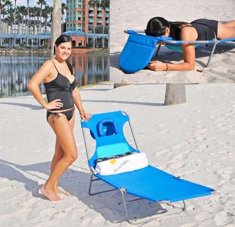 Upside-Down Beach Hammocks - This Beach Chair Lets You Completely Relax While You're Out in the Sand