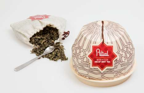 Mosque-Shaped Tea Branding - The Ritual Moroccan Tea is Spiritual