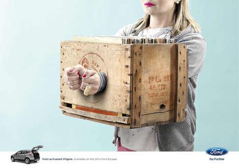 Unusually Hand-Cuffed Car Ads