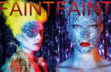 Crystallized Cosmetic Covers - The In Vitro FAINT Magazine Cover Images Defy Convention