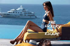 Ladylike Vacation Fashion - The Vogue Japan 'The Luxury of Escape' Photoshoot Stars Grace Hartzel