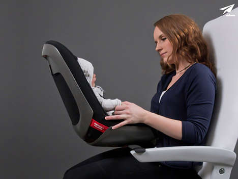 Inflight Child Seats - AirBorn by Malin Grummas are Made for Infants on Commercial Planes