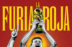 Vibrant Soccer Posters - These 2014 World Cup Posters Depict the Star Players of Each World Cup Team
