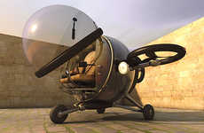 Compact Commuter Helicopters - The Eduardo Galvani Fly Citycopter Plane is Designed for Transit
