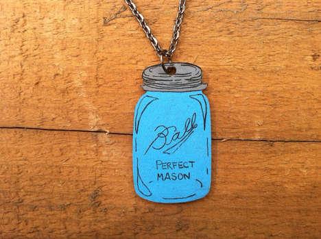 Mason Jar Necklaces