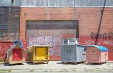 Recycled Mobile Homeless Shelters - The Homelessness Project Uses Discarded Items to Provide Housing