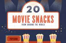 Cinematic Snack Infographics - This Infographic Lists Movie Snacks from Around the World