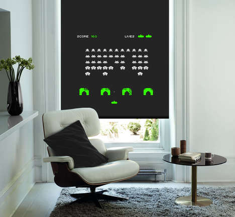 Retro Gaming Blinds - English Blinds Created a Cooler Shading Option for Geeks