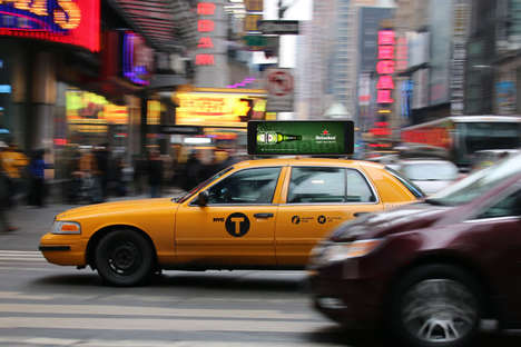 Moving Taxi Cab Ads
