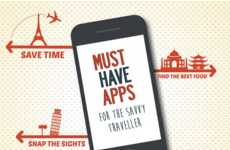 Travelling App Infographics - This Infographic Lists the Best Phone Apps to Have While Travelling