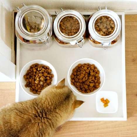 Minimalist Feline Food Trays