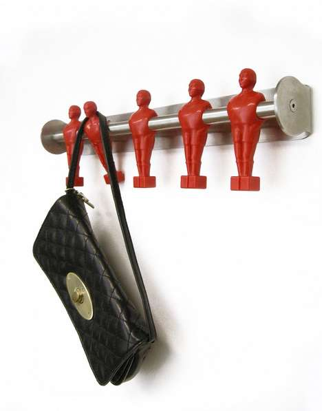 Playful Foosball Hangers - The Offside Coatrack Makes a Game of Tidying Your Entryway