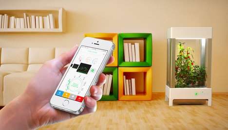 App-Connected Home Gardens