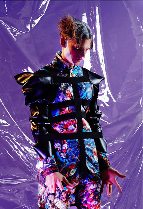 Galactic Futurism Editorials - The CTRL ALT SPACE Fashion Story for MR STYLE is Unconventional