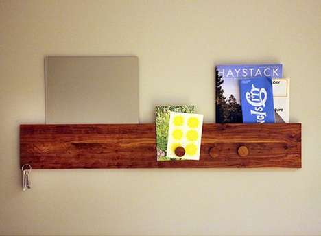 Magnetic Timber Shelving