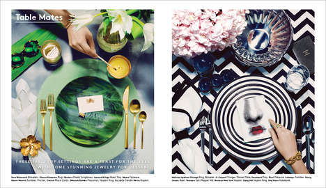 Lavish Dinner Setting Editorials